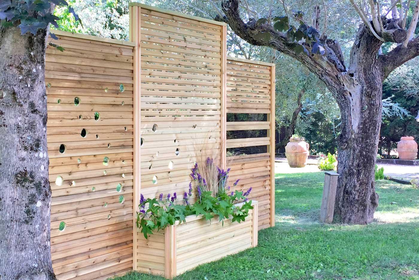 Divisori In Plexiglass Per Esterni divisori in legno per esterni