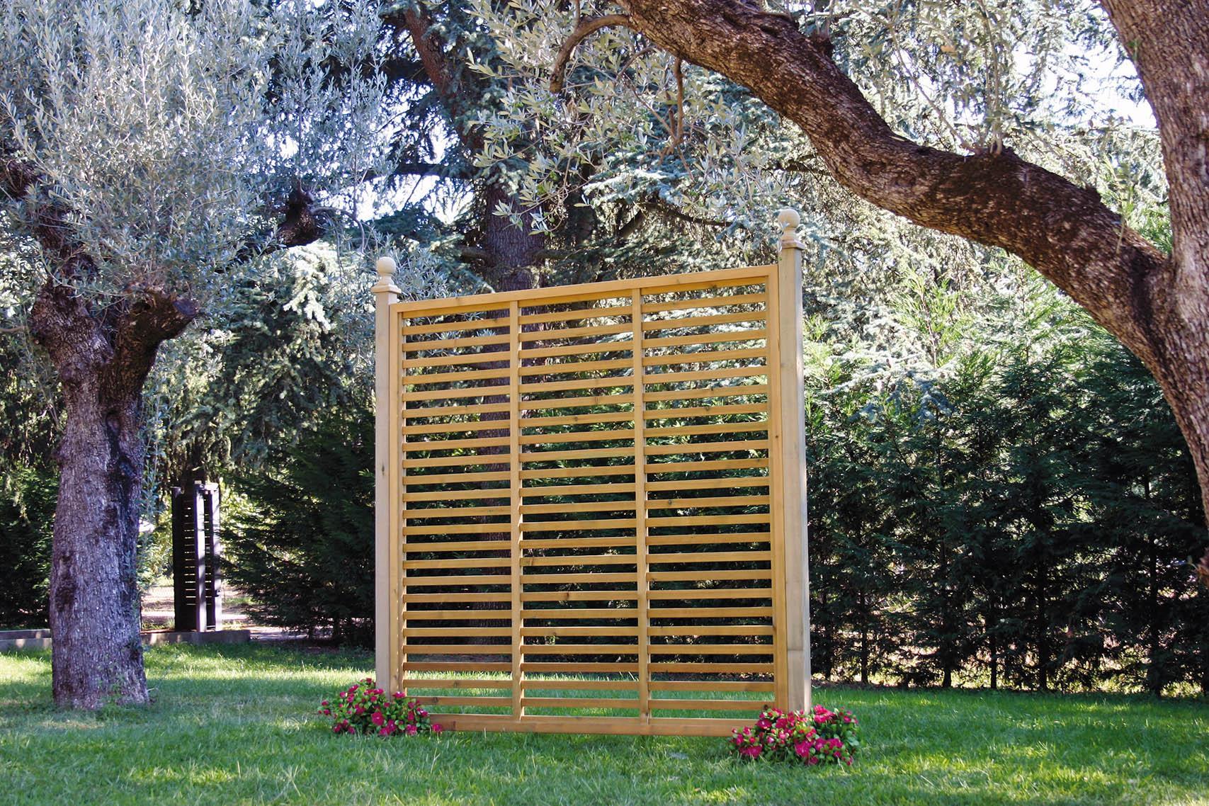 Paravento In Legno Per Esterni grigliati in legno su misura, collezione 2020